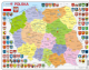 Political Map of Poland/ Polska - Frame/Board Jigsaw Puzzle 29cm x 37cm (LRS  K97-PL)